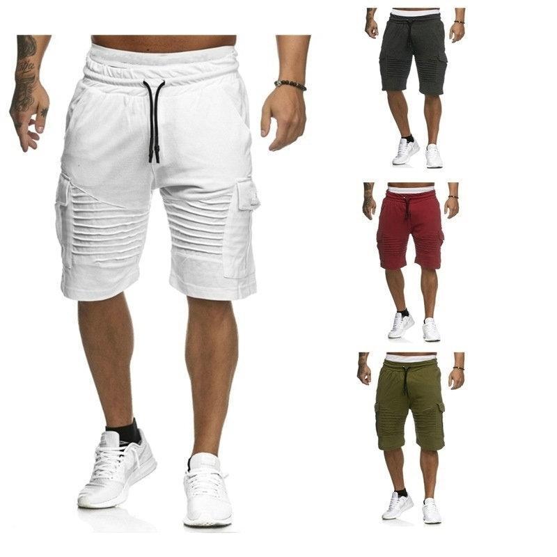 2020 Hip Hop Hombre Pantalones cortos de carga Verano Casual bolsillo Pantalones cortos Joggers Moda Hombres Pantalones Pantalones Swey Pantalones cortos Homme Ropa