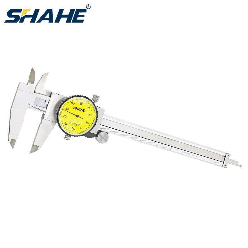 شاهي مقياس متري الهاتفي الفرجار 0-150 مم / 0.01 ملليمتر مزدوجة صدمة مقاوم للصدأ الفولاذ المقاوم للصدأ الدقة الورني الفرجار قياس T200602