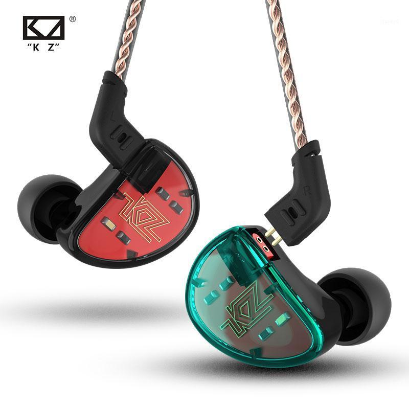 KZ AS10 Auriculares Auriculares Cancelación de ruidos Cancelación de deportes con micrófono 5 Barra de armadura equilibrada Monitor de controlador Híbrido para la música1