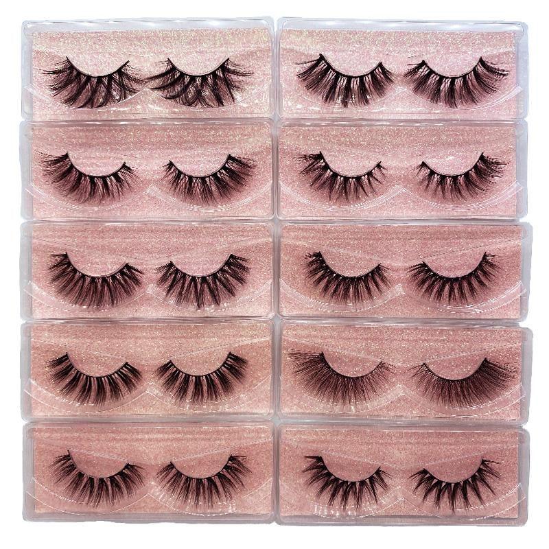 Wholesale Eyelashes Fluffy 3D Mink Lashes Bulk Natural False Eyelashes Volume Makeup Eye Lashes In Bulk