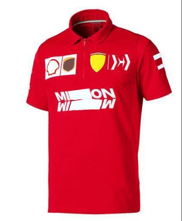 Fórmula F1 2020 Polo de verano Camisa de carreras de motocicleta a través del país Poliéster Se puede personalizar