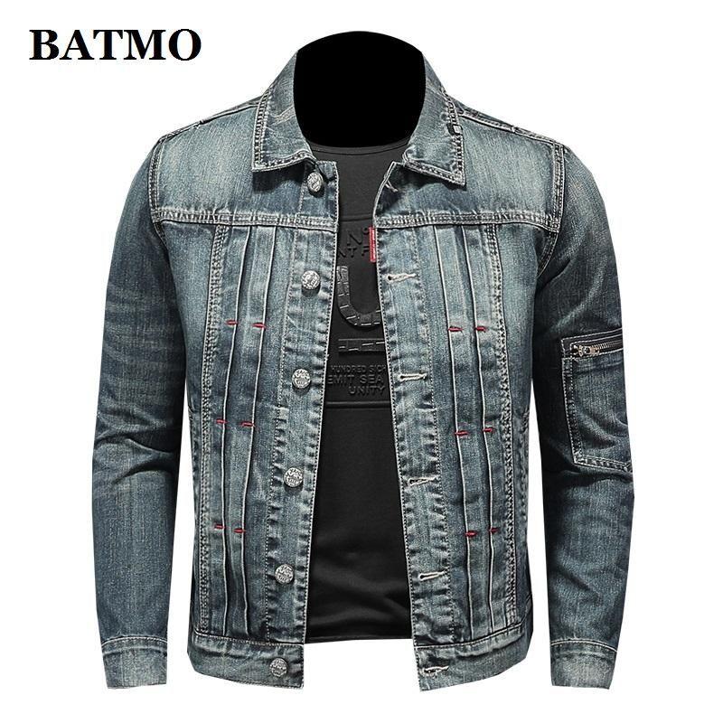 Men's Jackets BATMO 2021 Arrival Spring High Quality Cotton Denim Coat Men,casual Jackets,plus-size M-5XL,H06163