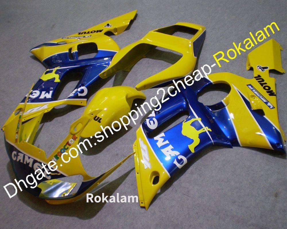 Feedings for Yamaha Cowling YZF-R6 1998 2000 2000 2000 2001 2001 YZF 600 R6 YZFR6 SPORT Moto Bodywork Amarelo Azul Feening Set (moldagem por injeção)