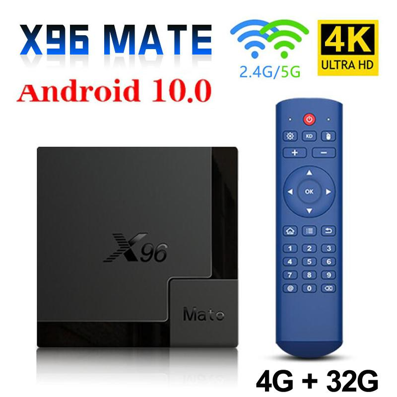 X96Mate Android 10.0 Smart TV Box 4GB 32GB Dual Band Wifi 2.4G/5G Bluetooth Allwinner H616 Quad Core Set Top Box X96 Mate Mini TVbox