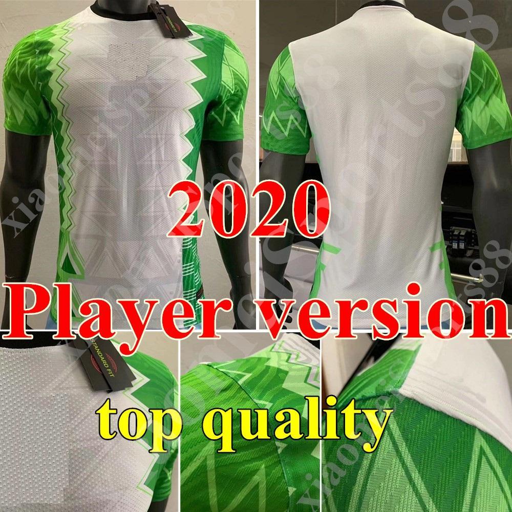 2020 National Team Player Version Jersey Home Soccer Shirt Osimhen Iheanacho Moses Musa NDidi 20 21 Maillot Camisa de fútbol de alta calidad
