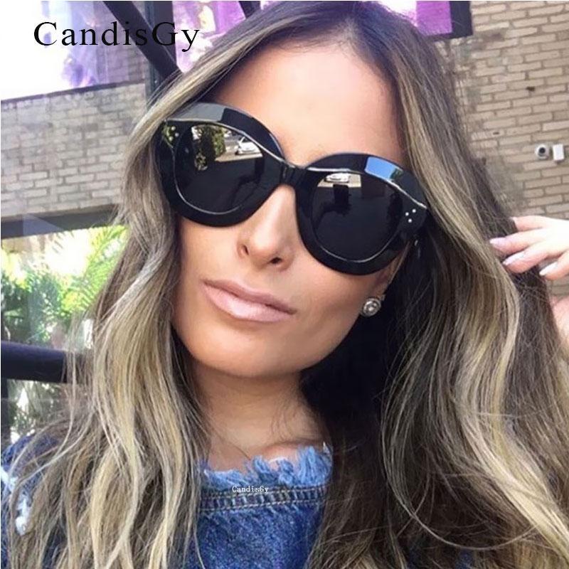 Sunglass Fashion Designer Cadre de qualité Vintage unique 2020 UV400 UV400 High Cat Verre Brand Sun Cateye Eye Plastique Eyeeear Luxe Qkoct Tomp