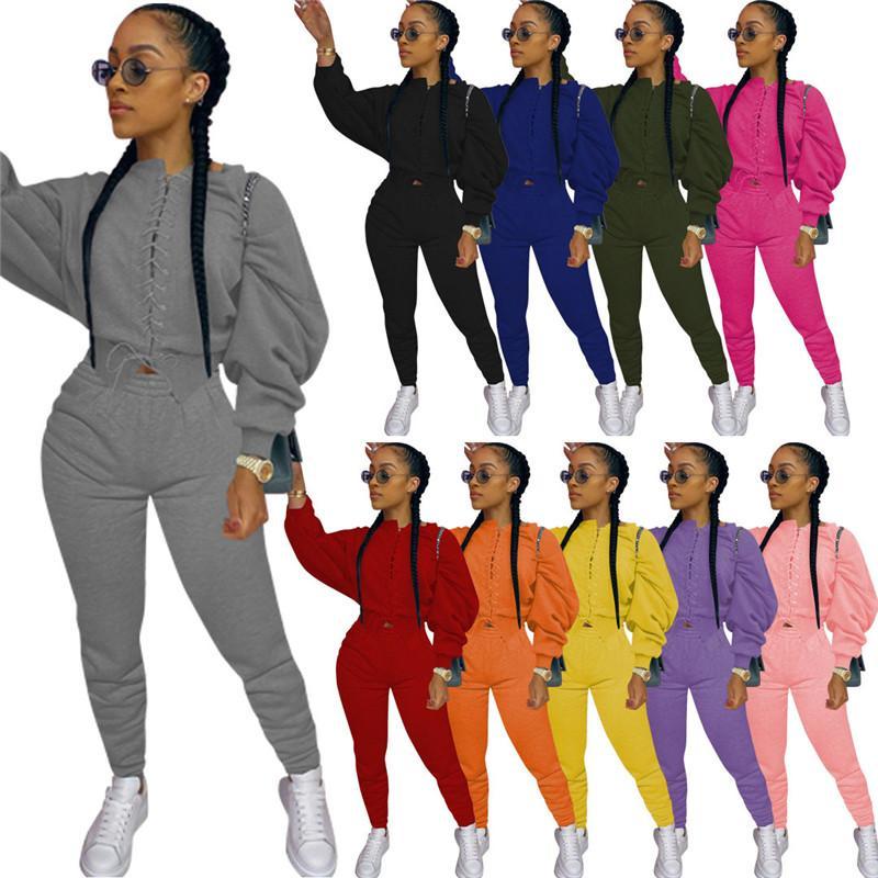 Womens Sportswear Trainingsanzug Langarm Outfits 2 Stück Set Pullover + Legging Frauen Kleidung Sportuit Neue Heiße Verkauf Damen Kleidung KLW0114