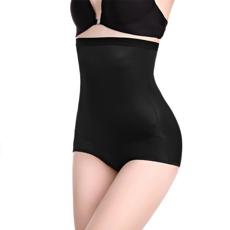 Culotte à la taille haute pour femmes Couleur solide Plus Taille Shape Shape Signes sans soudure Slimper Sliming Culotte Slips