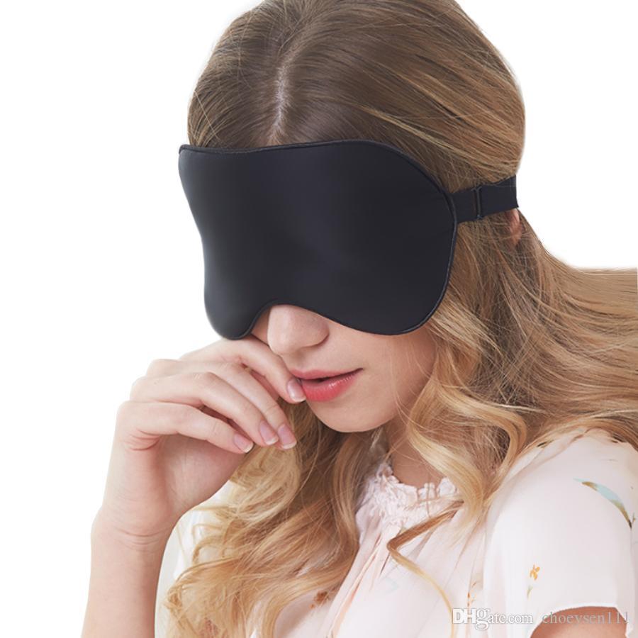 100٪ التوت الحرير الطبيعي قناع النوم الناعمة الغمامة العينين السلس قناع العين النوم عينيه العين غطاء التصحيح ضمادة الراحة