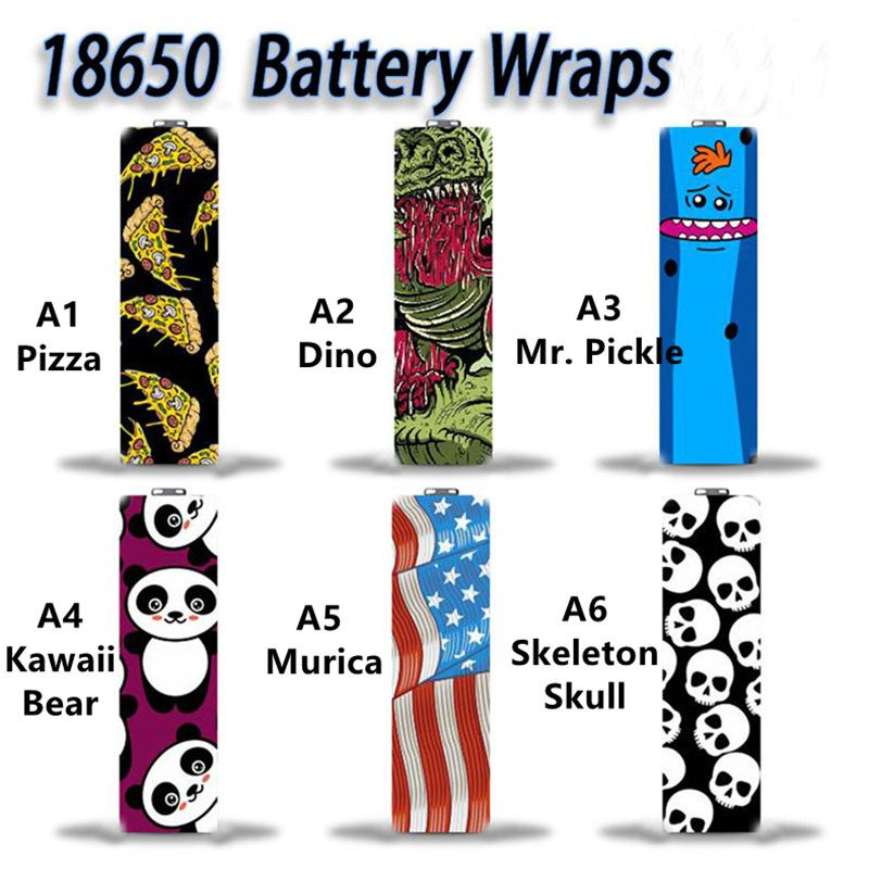 6 Types 18650 Series Pre-wrapping Battery Wraps Cover Skin Pre-wrap Tubing Shrink Wrapper Protected PVC Sticker Shrinkable Sleeve Heat For Batteries