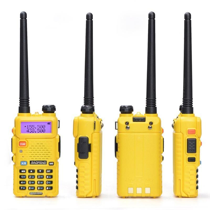 2 Pcs BAOFENG UV-5R Walkie Talkie UV5R 8W Two Way Radio 2Pcs VOX FM Transceiver Dual-band UV 5R Walkie Talkies Set