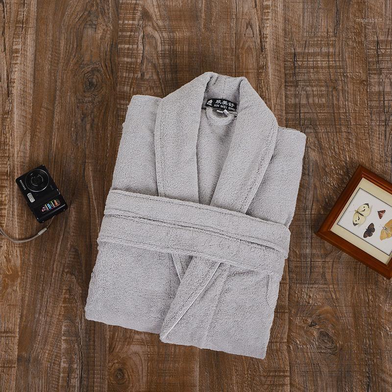 100% Terry Cotton Bathrobes Hombres toalla de túnica de engrosamiento Hombres Bathrobe1