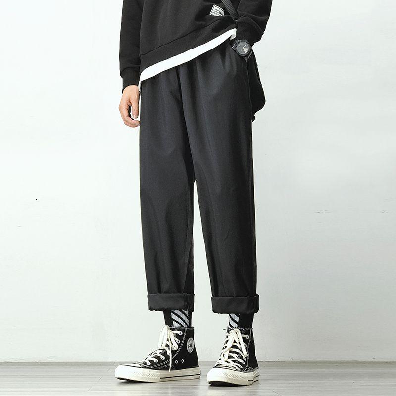 Pantaloni jogging Harem uomo Uomo Nero Cotone confortevole Pant Estate Casual Streetwear allentati pantaloni giapponesi Trendy Sweatpants