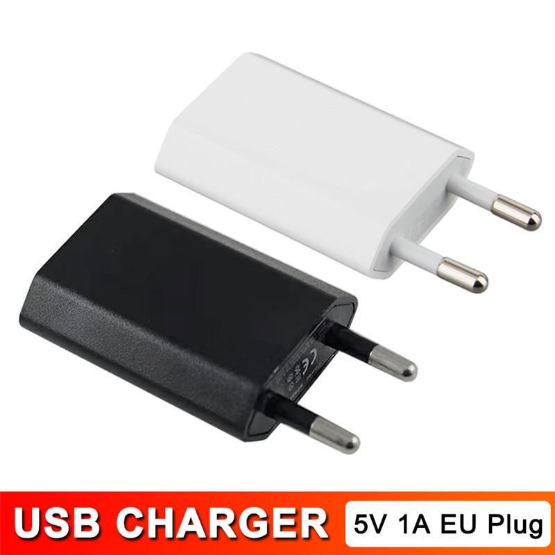 SUMSUNG 샤오 미 화웨이을위한 아이 패드 아이폰 전화 충전기 USB 5V 1A 여행 Moblie 전화 EU 플러그 벽 전원 어댑터