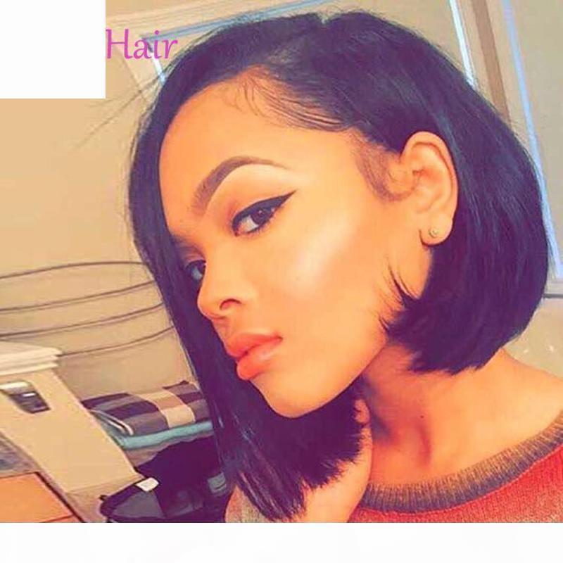 Perruque péruvienne péruvienne non traitée perruque droite en dentelle de lacet de lacet humaine avec cheveux brésilien de la perruque de dentelle indienne brésilienne pour femmes noires