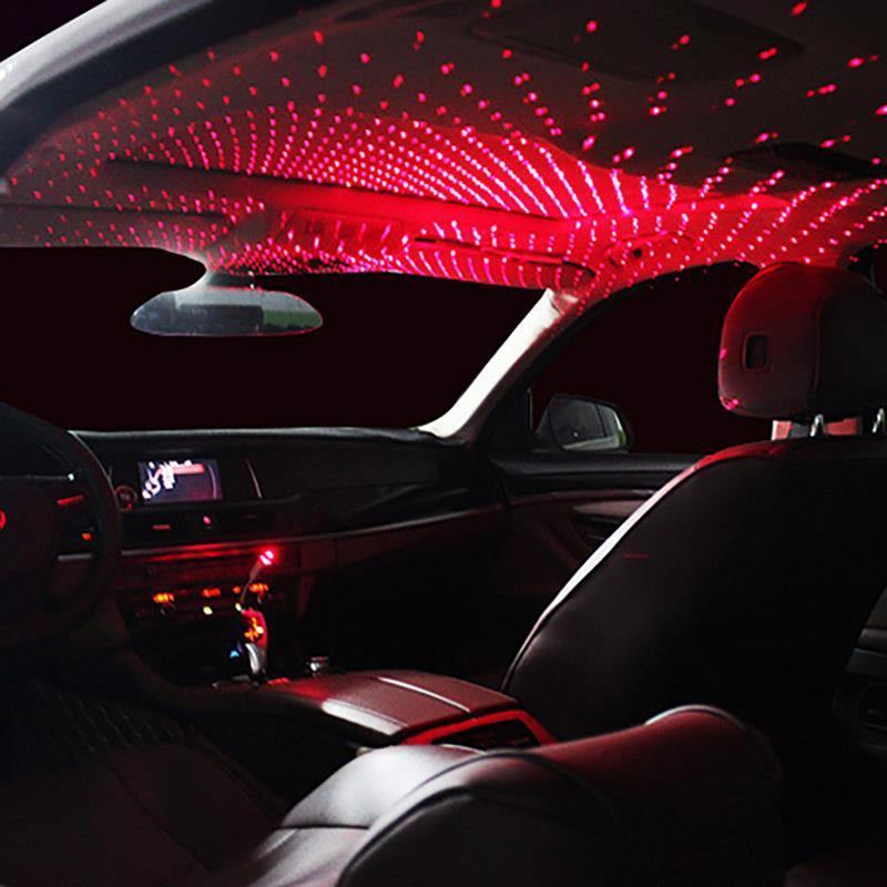 Mode Mini LED Auto Dachstern Nachtlichter Projektor Leichte Innenraum Umgebungsatmosphäre Lampe Dekoration Licht USB-Stecker