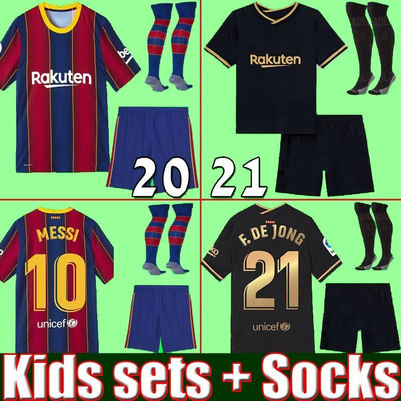 NCAA top thailand quality 20 21 Kids sets with socks fotball soccer jerseys 2020 2021 home away boys youth kits kits