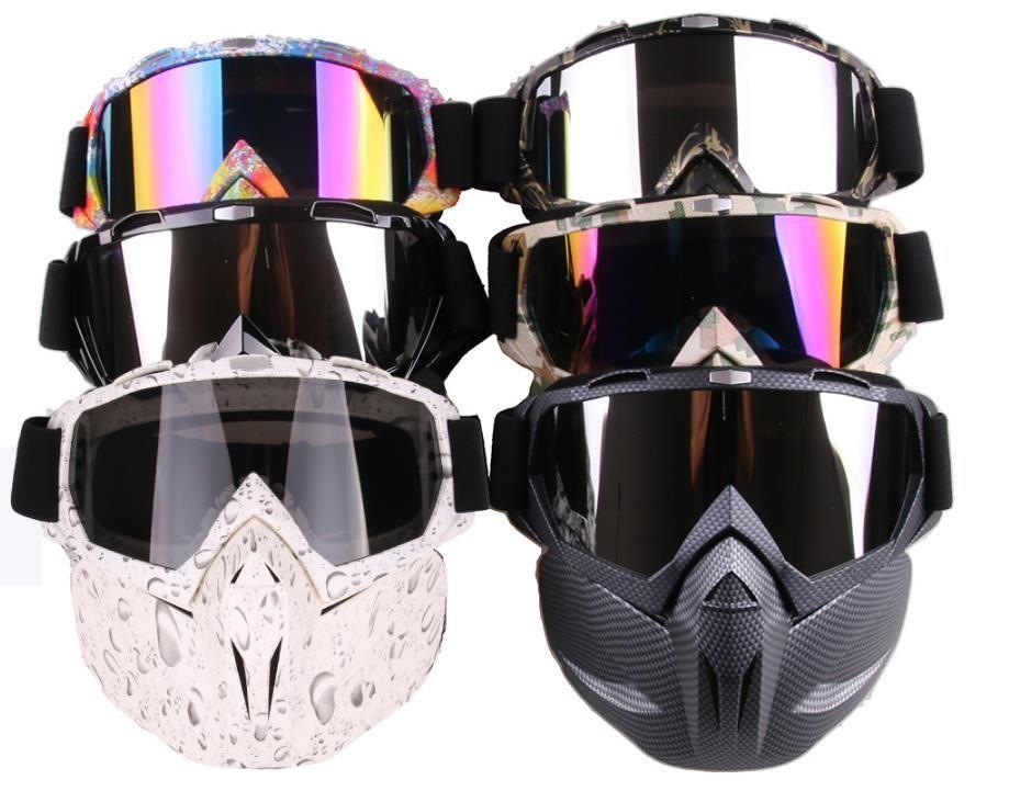 الشتاء الرجال النساء التزلج على الجليد نظارات snowmobile نظارات الثلج يندبروف التزلج نظارات موتوكروس بارد نظارات شمسية مع قناع الوجه
