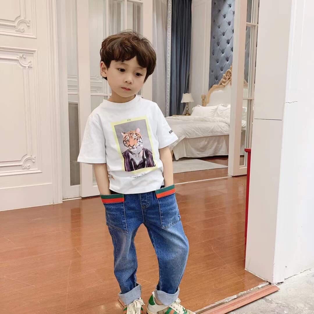 Мультфильм футболка для летних детей девочек мальчики 2021 печать Tees детские хлопчатобумажные вершины