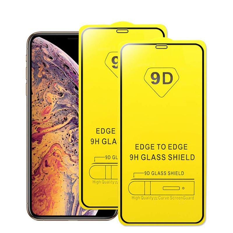 9D-Mobiltelefon-Bildschirmschützer für iPhone 12 Mini 12 Pro Max-Schutz-Glas 9H-Härte 0,3 mm voll gehärtetes Glas