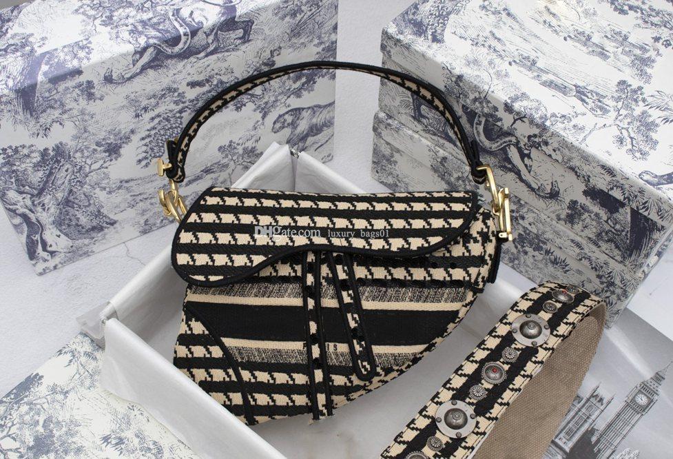 Подлинная сумочка высокая 5А с качеством кожаных букв плеча женская сумка дизайнер JDAA седло подлинный плечо седло сумка HAN LE LUJE