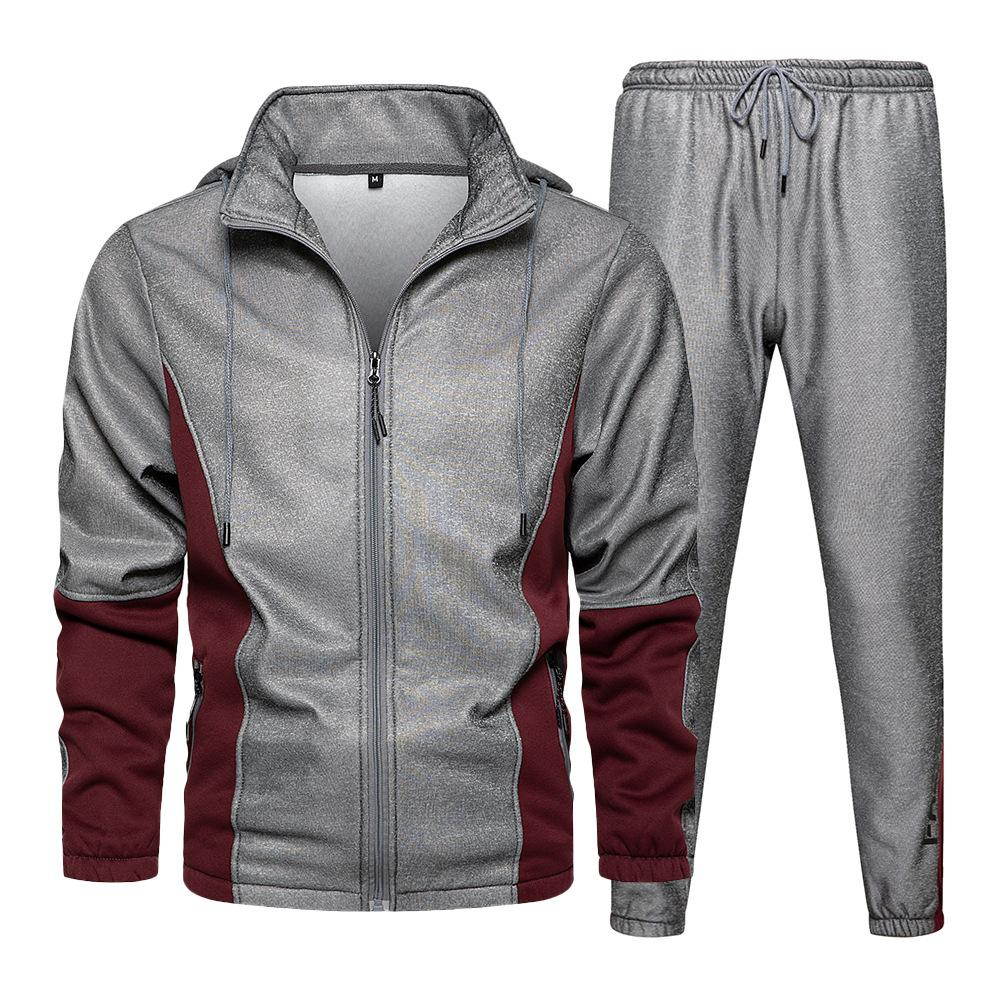 2-piece Sportswear Autumn Winter New Youth Leisure Sports Sweater Trendy Men's Suit Sweatpants and Hoodie Set