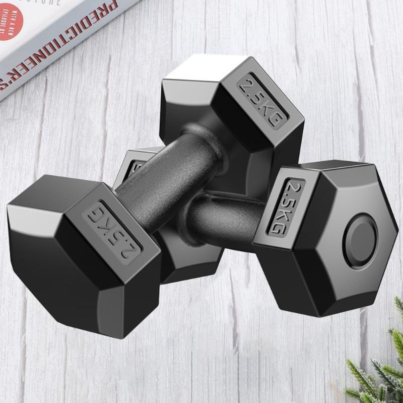 Haltères 2.5 / 5 / 7.5kg Dumbbell Fitness Fitness Fitness ARM Muscle EXERCICE D'EQUIPE AVEC EQUIPEMENT CROISSION Crossfit pour