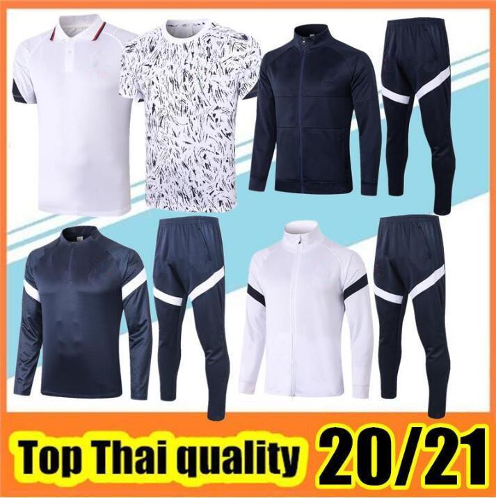 Survetement France Survêtement Veste 2020 Costume Mens Soccer Training 20 21 TOP Qualité manches longues kit Football Pantalon d'hiver Survetement France