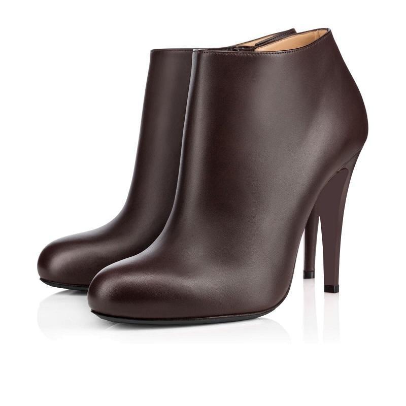 partes inferiores del rojo para mujer botines Así que Kate de Spike tacones altos 8 10 12 CM rodilla tobillo marina negro botines de invierno de terciopelo de cuero de moda
