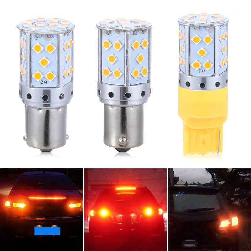 Lumières de secours 1PCS 1156 BA15S BAU15S PY21W T20 7440 3030 35SMD CANBUS GRATUIT LED Lampe de voiture Tournage Signal Signal Ampoule Frein Frein1