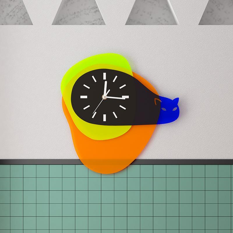Reloj de pared acrílico de alto grado nórdico Reloj de geometría simple Home Sala de estar Oficina Decoración ornamentos Regalos creativos