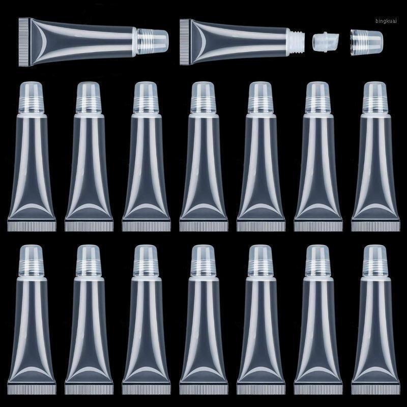 70 шт. 15 мл. Пополняемые бутылки Mini Clear Пустой блеск для губ Контейнер мягкие пустые трубы для DIY Gloss для губ / косметика1