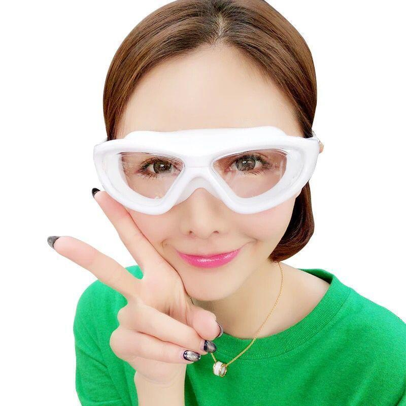 Swimming Goggles White Clear Version Transparent Lens Professional Women Silicone Waterproof Pool Swim Eyewear Diving Glasses Sqcl