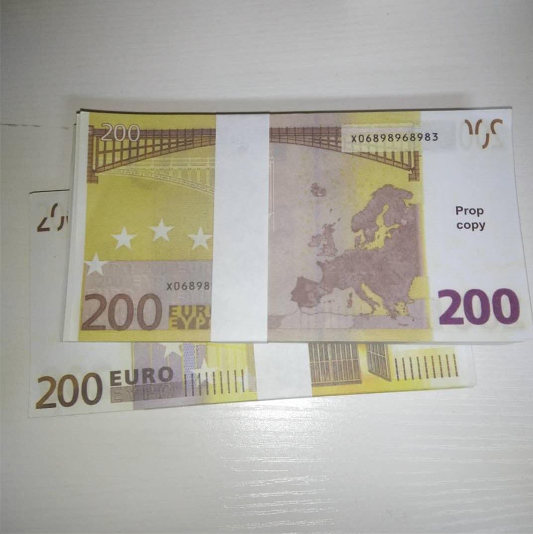 Escenario Billet 200 Atmósfera Atmósfera Partido Oxreg Prop Faux Billet Falsifit Money Euro Bar Bar Le200-46 Nuevo Stfoh