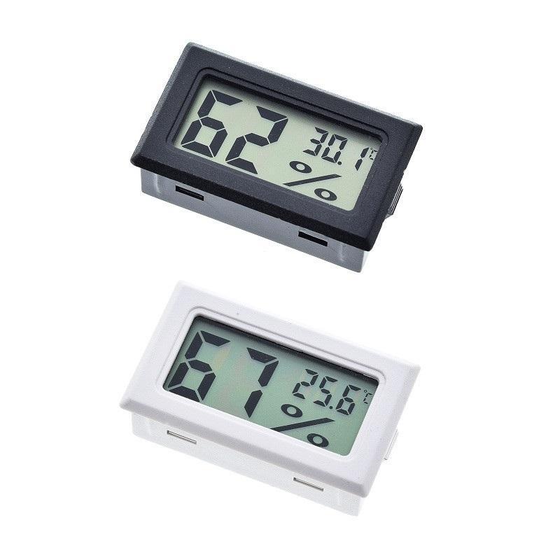 Black / Blanc FY-11 Mini Numérique LCD Environnement Thermomètre Hygromètre Humidité Température Compteur dans la chambre Réfrigérateur Icebox WB3208