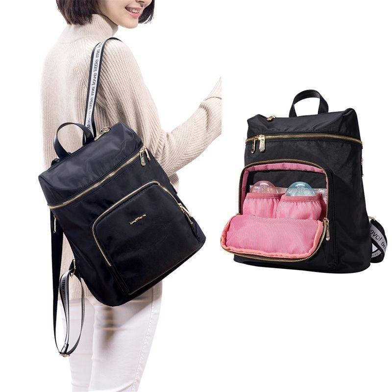Бренд модный подгузник сумка у кормящих мешок мумия беременной подгузник большая емкость детская сумка путешествия рюкзак дизайнер для ухода за ребенком 201125