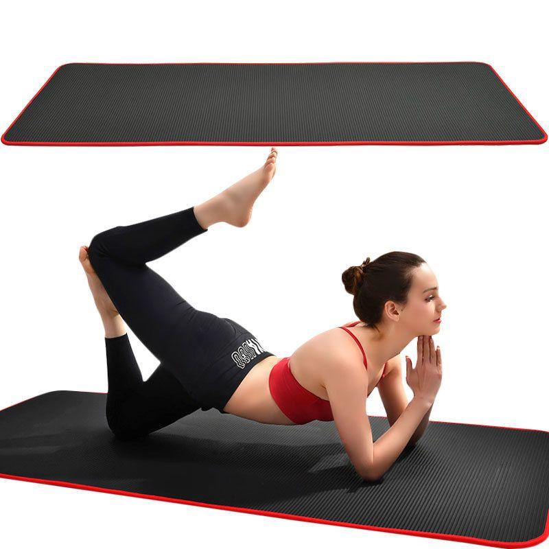 10 mm antideslizante super espesor 183 cm * 61cm NRB Mat de yoga sin olor de alta calidad Adecuado para principiantes Ejercicio Fitness Pilates Yoga Mat LJ201218