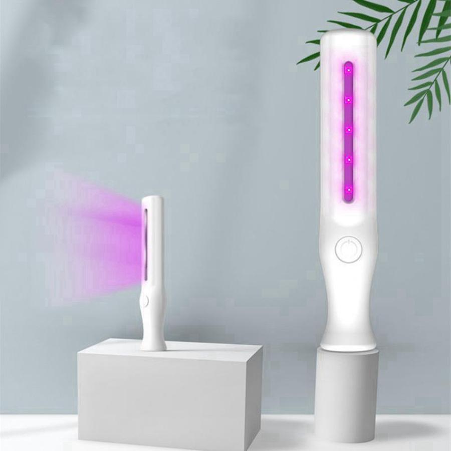 Profissional UV Luz Mini Sanitizer Handheld Handheld Ultravioleta Desinfecção Lâmpada Portátil Hotel Car Pet Esterilizador Light RRD3572