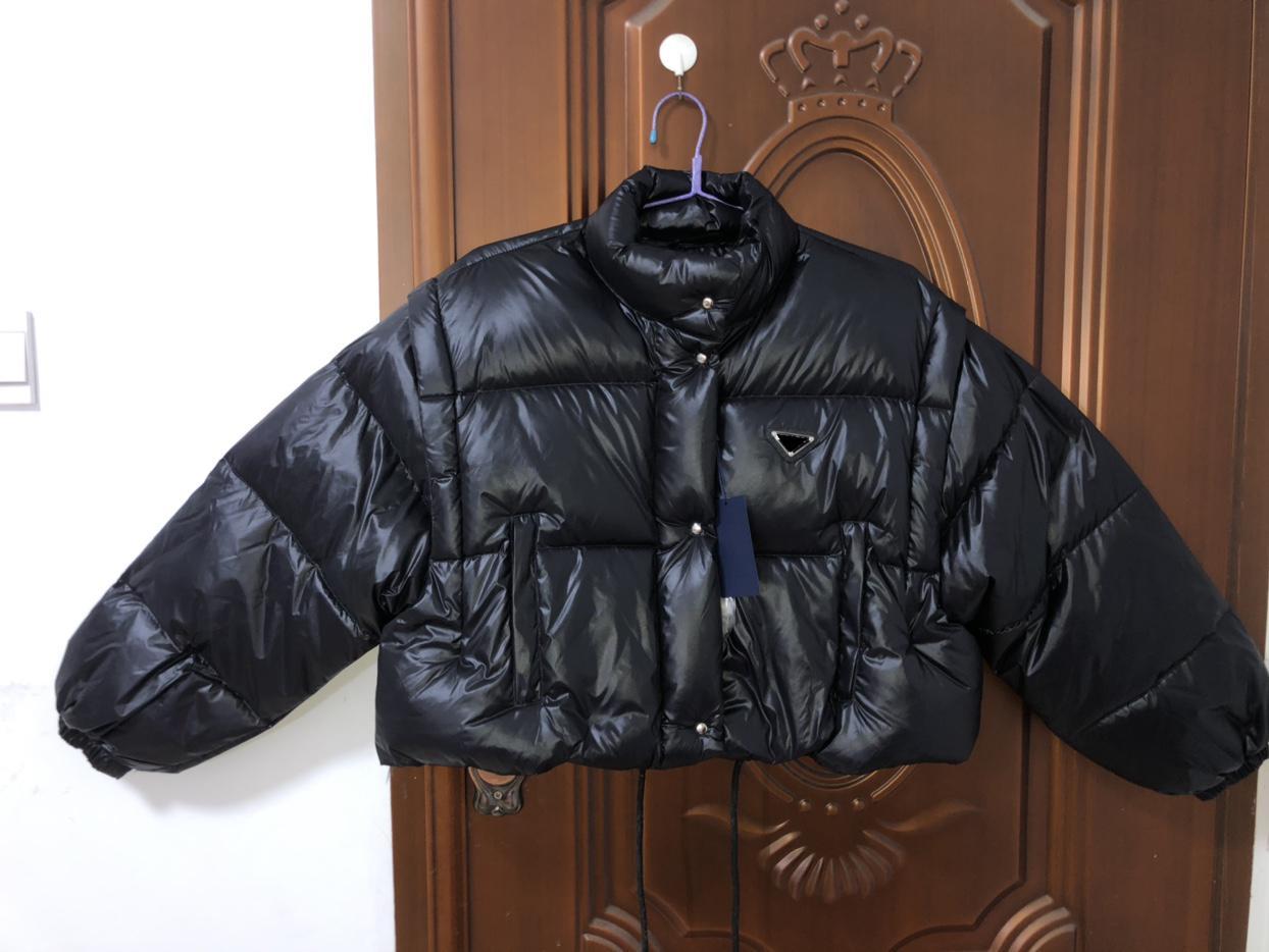Женщины Классическая Куртка Дауна Парты Парты Зимний Стиль Рукава Открытые Куртки Карманные Обучение Леди Теплые Пальто Белый и Черный S-L