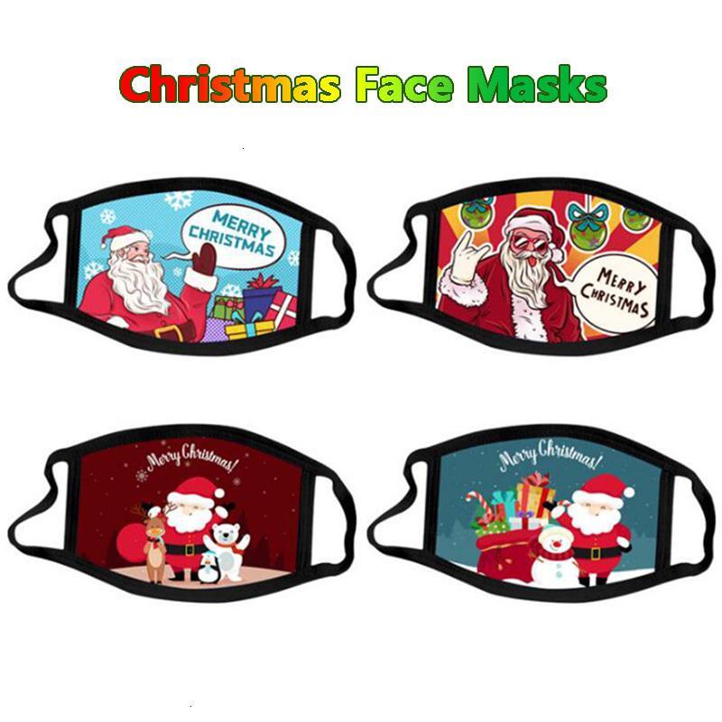 Tissu 3D de Noël pour masques de fête pour adultes coton dessin animé masque visage masque lavable réutilisable