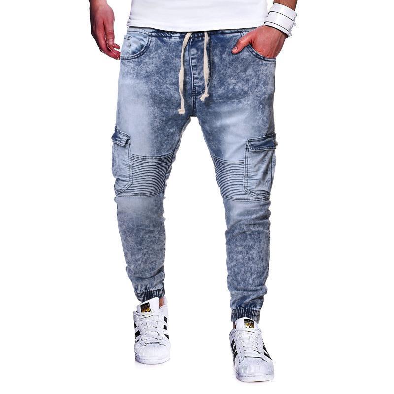 2020 Heißer Verkauf Europa und Amerika Männer Jean Stoff Beiläufige athletische Hosen Hosen Jeans