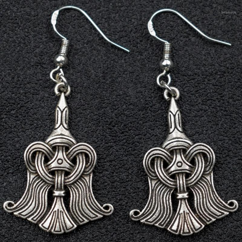 Wikinger Norse Raven Ohrring Odin Rune Huginn und Muninn Ohrringe Schmuck