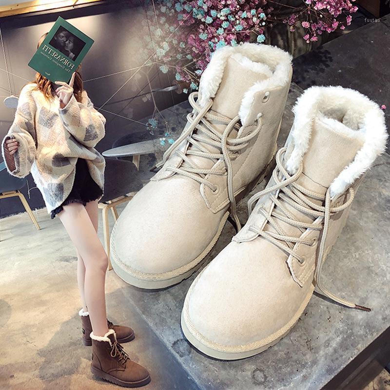 2020 inverno novo estilo coreano botas de neve mulheres mais veludo botas curtas mulheres sapatos de algodão casual quente1