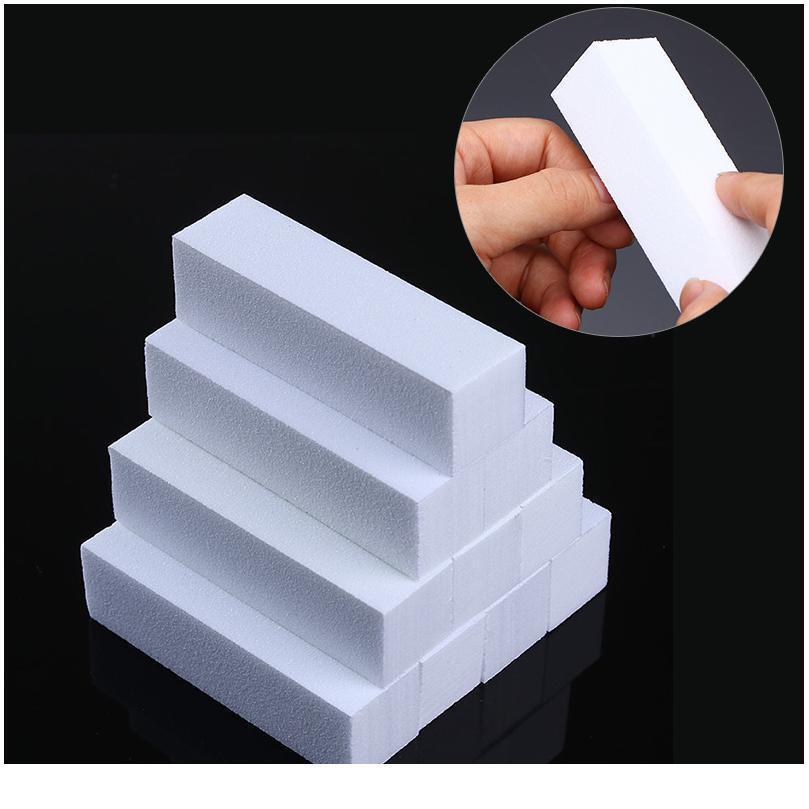 10 teile / los Weiß Nagelblockpuffer Nail art Puffer Schleifblock Dateien Maniküre DIY Polnische Werkzeugpufferung Nailkunst Auch Qylgdp