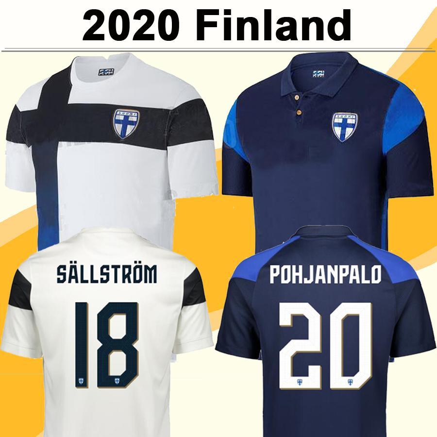 2020 Finlandia National Team Mens Soccer Jerseys Nuovo Pukki Skrabbs Raitala Jensen Lod Kamara Casa Away Camicia da calcio Camicia a manica corta