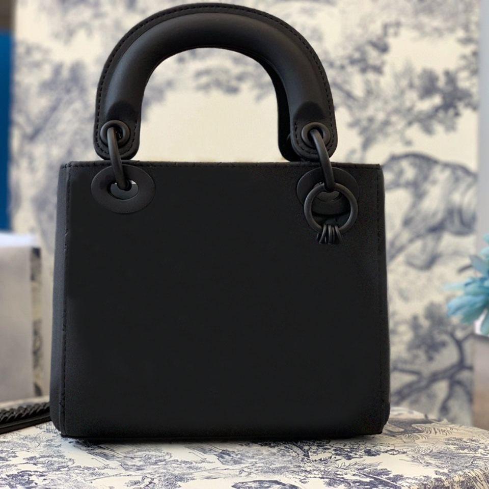 2020 New Designer Portefeuille de luxe Portefeuille Classic Lady Sac à bandoulière Cuir et Houndstooth Tissu Sackbag Sac de haute qualité