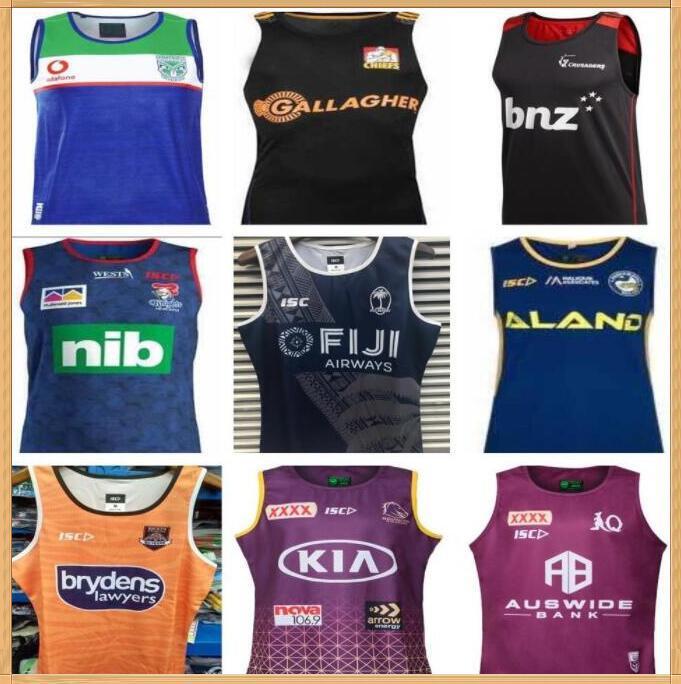 2020 2021 Kovboylar Batı Kaplanlar Brisbane Broncos Maroons Rugby Formalar Yeni Güney Galler Blues State Fiji Knight Eels Vest Jersey