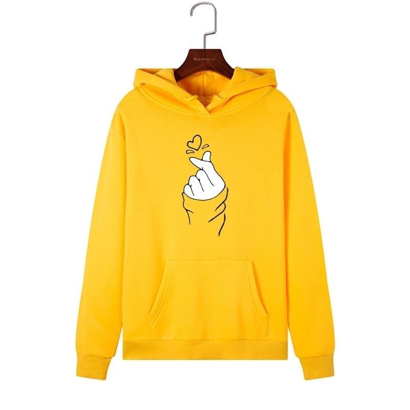 Singrain Sweatshirts Frauen Langarm als Herz Niedlichen Winter Hoodie Warme LOOSEPOLERONES Cartoon Streetwear Frau Hoodies Y200915
