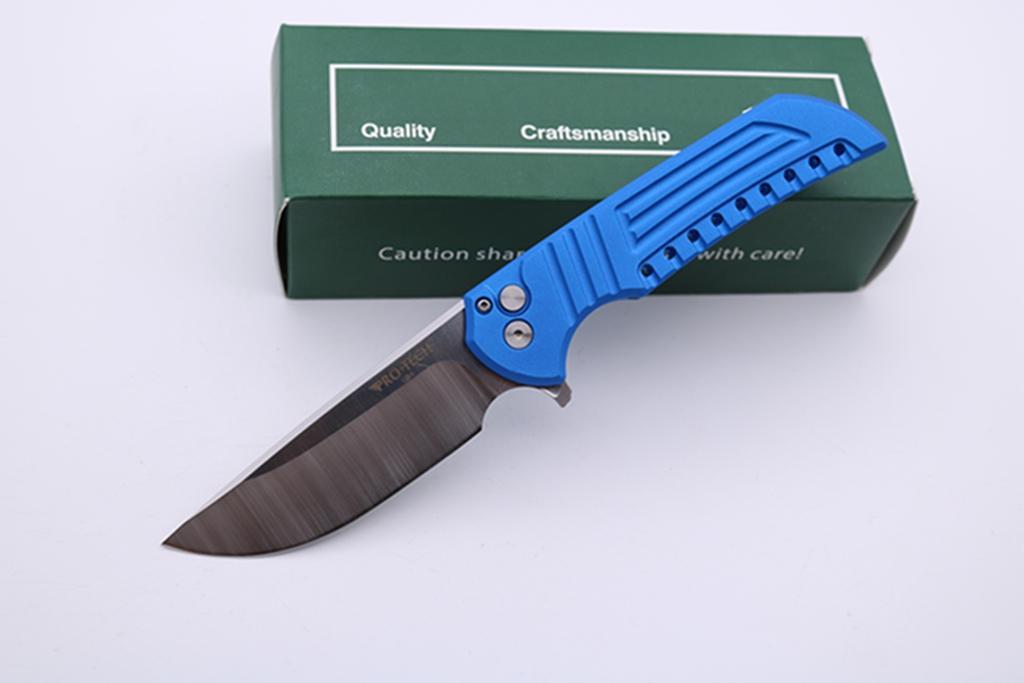 Высокое качество Protech Mordax карманный складной нож D2 лезвия 6061-T6 Кнопка Ручка Тактические Выживание сь нож EDC