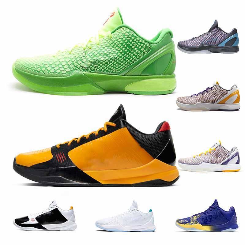 Grinch KB6 ZK5 KB5 5 S Basketbol Ayakkabı Bruce Lee 3D Hollywood Lakers Chaos 5x Mor Altın Mamba ZK 5 V Spor Trainer